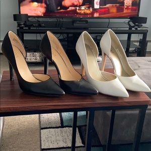 A.N.A white & Black pointed toe Heels